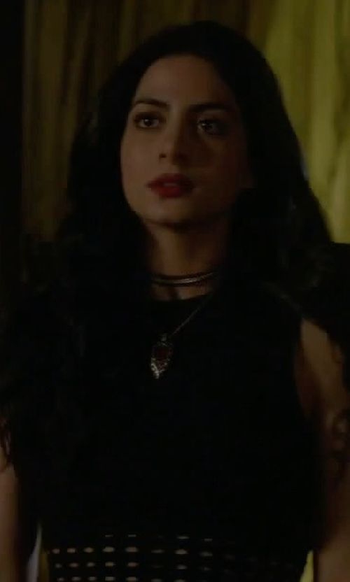 Emeraude Toubia with T by Alexander Wang Perforated Tank Top in Shadowhunters