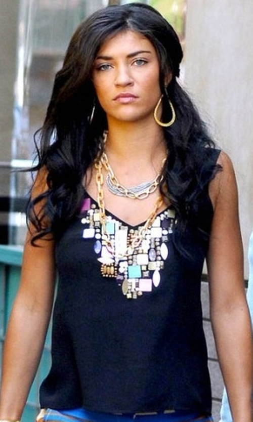 Jessica Szohr with Nanette Lepore Discover Me Jeweled Top in Gossip Girl