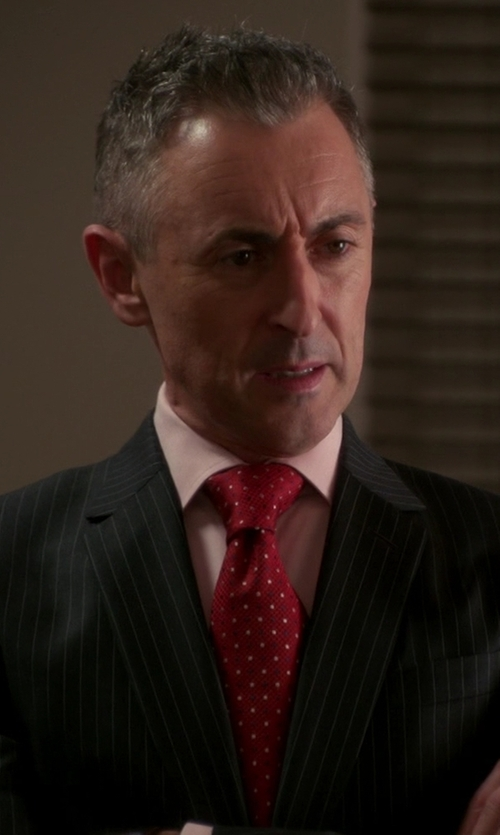 Alan Cumming with Brioni Polka Dot Silk Tie in The Good Wife