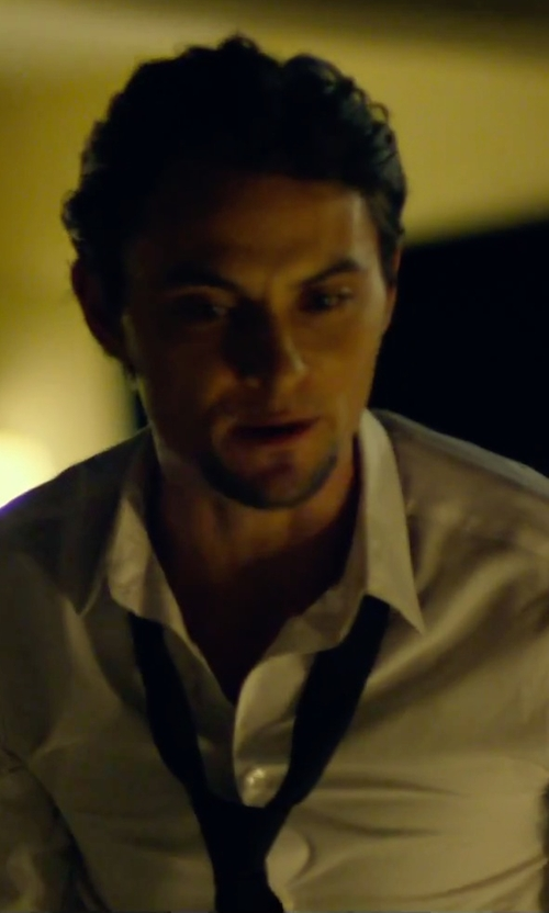 Shiloh Fernandez with DSquared2 Solid Satin Tie in We Are Your Friends