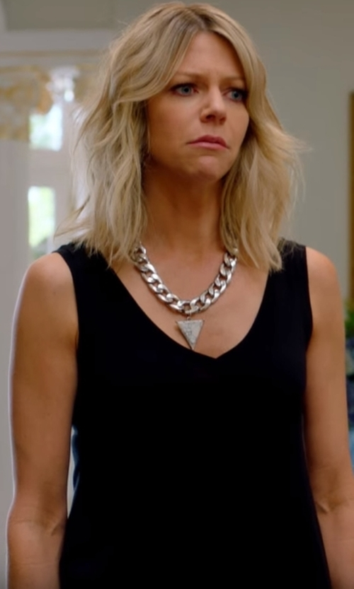 Kaitlin Olson with Raey  V Neck Cotton Blend Day Top in The Mick