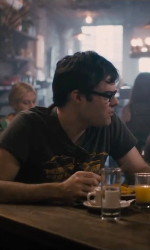 Bill Hader with Just Cavalli Skull Angel Graphic T-Shirt in The Disappearance of Eleanor Rigby