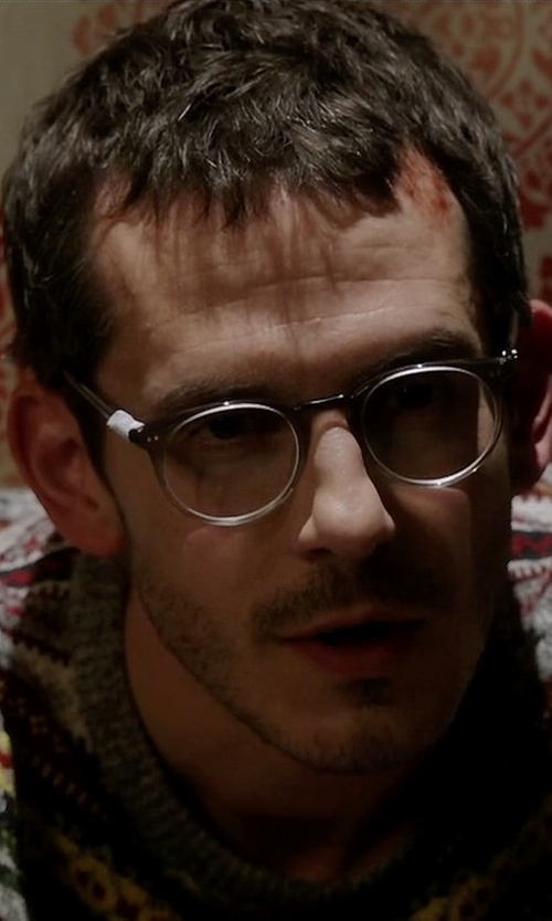 Tate Ellington with Ray Ban Clubmaster Eyeglasses in Quantico