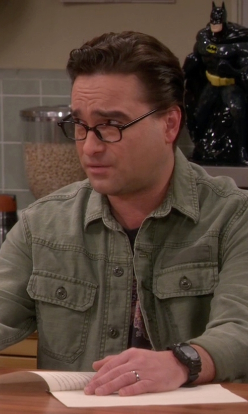 Johnny Galecki with Casio Resin Strap Digital Sport Watch in The Big Bang Theory