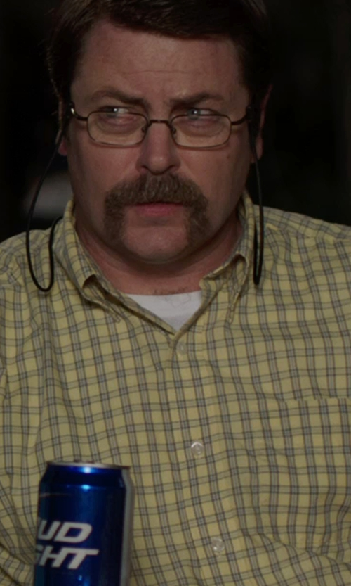 Nick Offerman with Calvin Klein Classic Crew T-Shirt in We're the Millers
