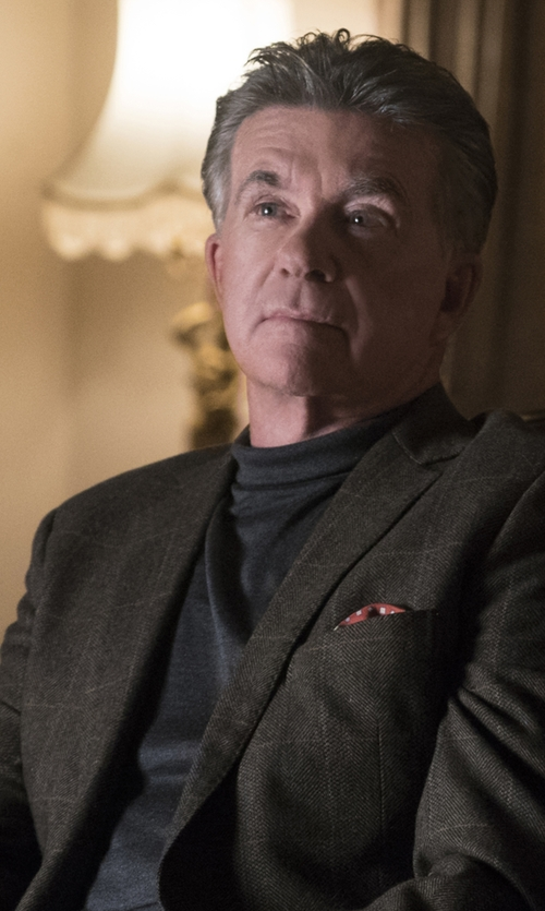 Alan Thicke with Boss Hugo Boss 'Musso' Wool Turtleneck Sweater in Scream Queens