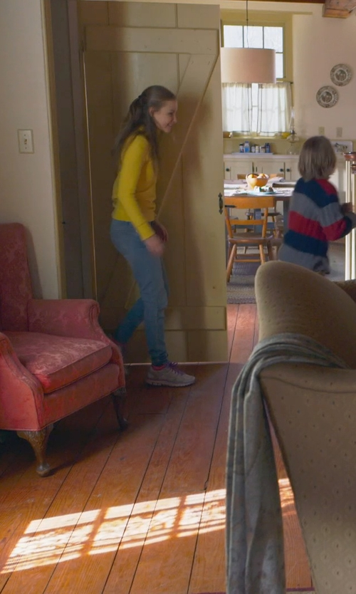Olivia DeJonge with Wool Overs Slinky Turtleneck Sweater in The Visit