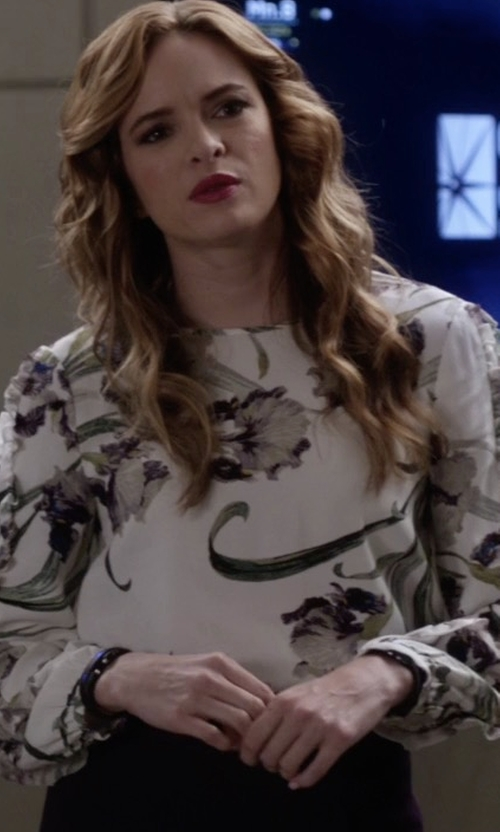 Danielle Panabaker with Club Monaco Evangah Top in The Flash