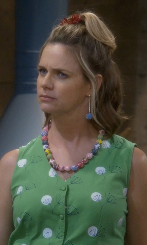 Andrea Barber with Chuvora Round Beads Necklace in Fuller House