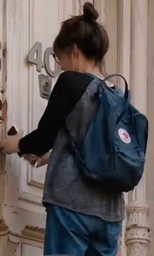 Cristin Milioti with Fjallraven Kanken Backpack in It Had To Be You