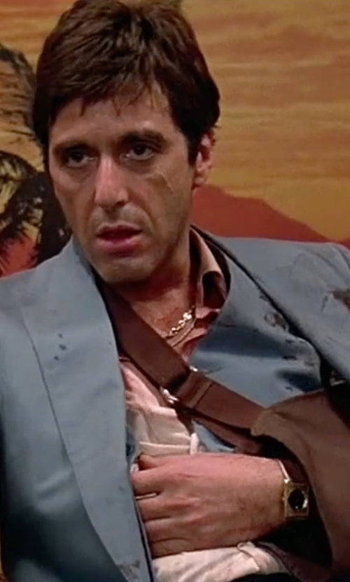 Al Pacino with Omega La Magique Watch in Scarface