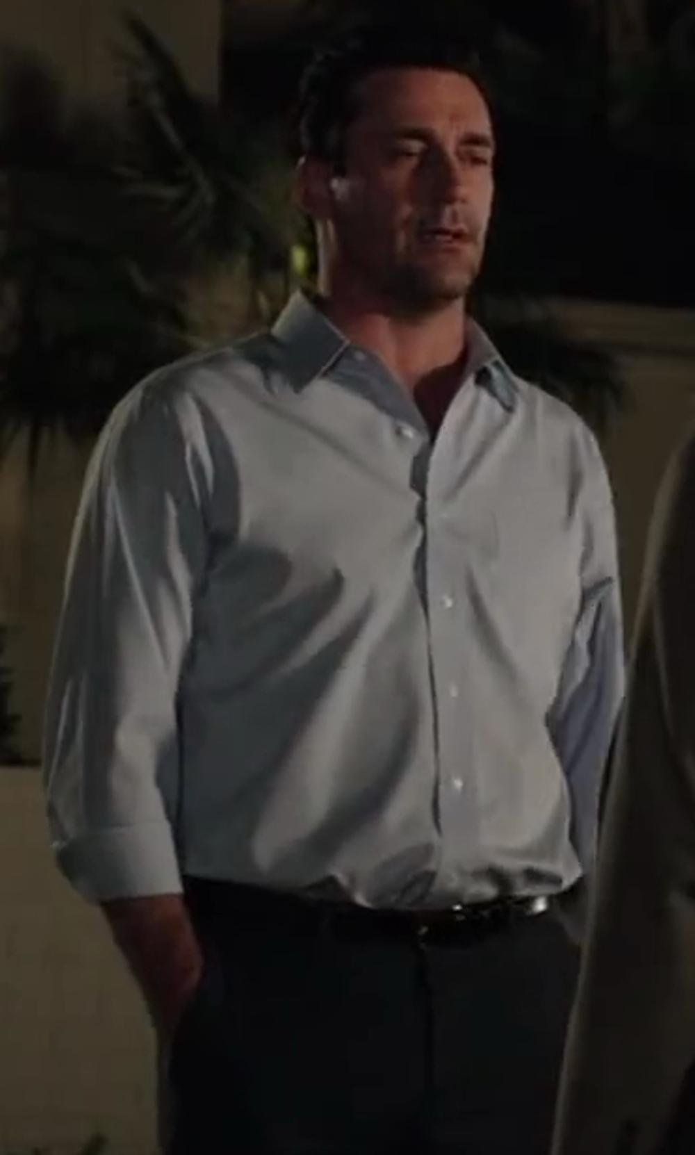 Jon Hamm with THINPLE Button Down Collar Oxford Shirt in Million Dollar Arm