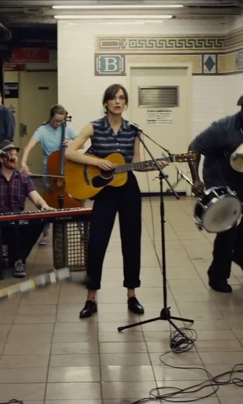 Keira Knightley with Brunello Cucinelli High-Waist Pants in Begin Again