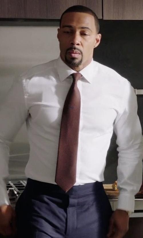 Omari Hardwick with Canali Silk-Cashmere Tie in Power