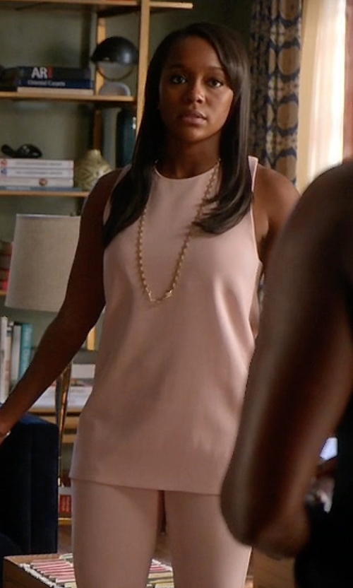 Aja Naomi King with BCBGmaxazria Jenina Draped Racerback Top in How To Get Away With Murder