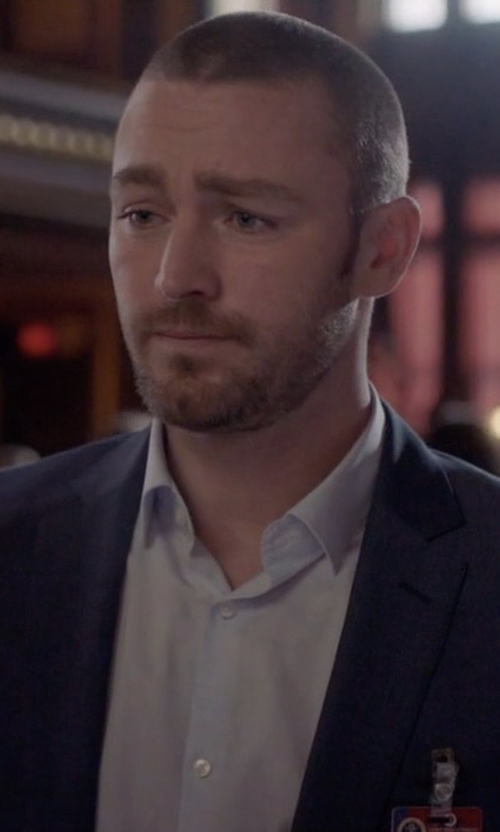Jake McLaughlin with Burberry Modern-Fit Wool Suit in Quantico