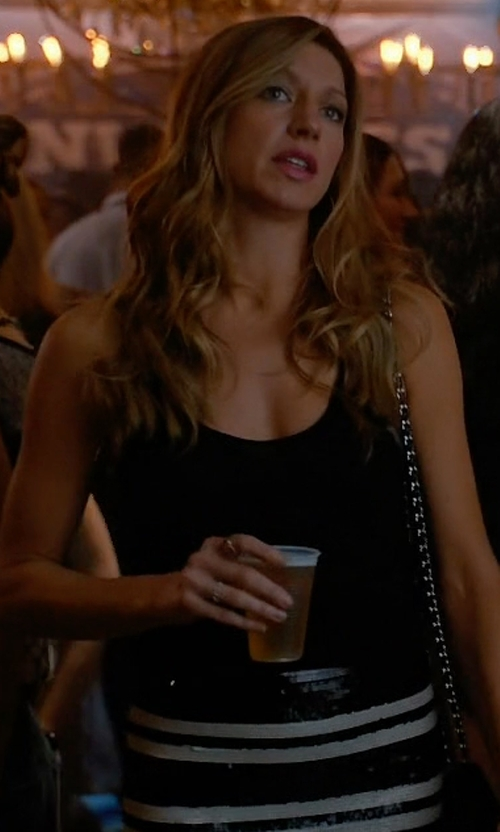 Jes Macallan with Alice and Olivia Rue Embellished Stripe Pencil Skirt in Mistresses
