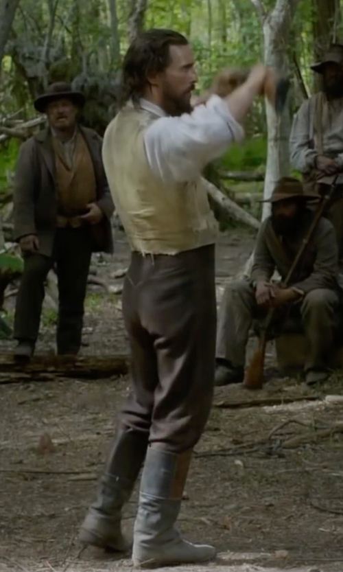 Matthew McConaughey with Frye Campus Boots in Free State of Jones