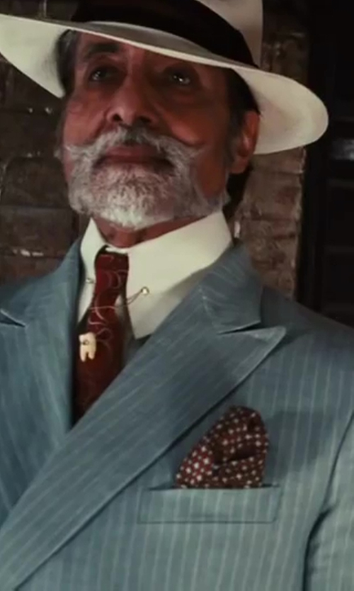 Amitabh Bachchan with Brooks Brothers Wide Brim Panama Hat in The Great Gatsby