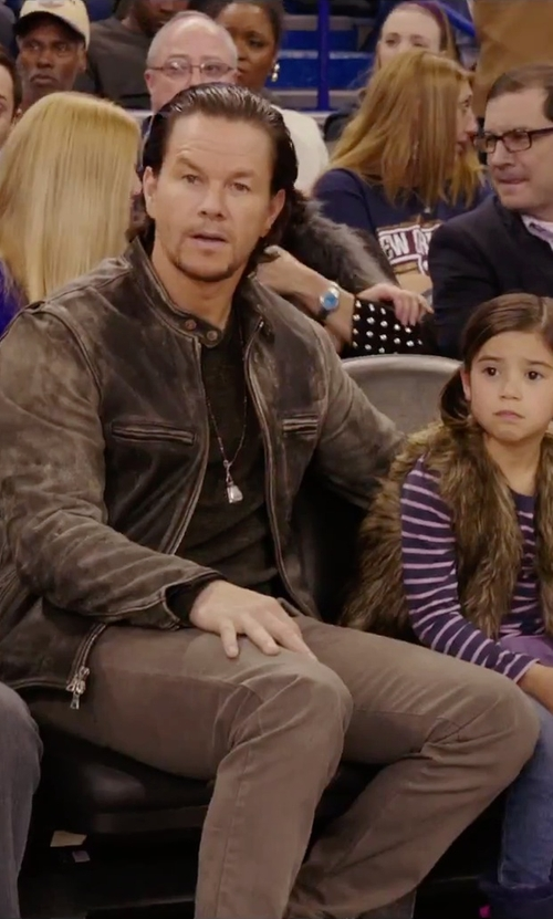 Mark Wahlberg with John Hardy Classic Chain  Dog Tag Pendant Necklace in Daddy's Home