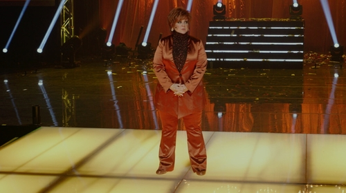 Melissa McCarthy with Altuzarra High-Waist Wide-Leg Pants in The Boss