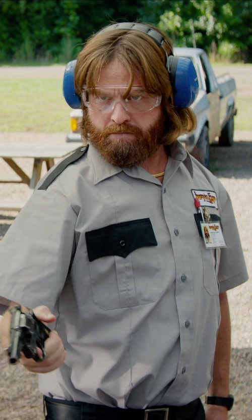 Zach Galifianakis with Intapol 2-Tone Uniform Shirt Short Sleeve in Masterminds