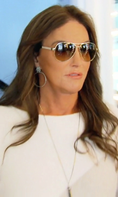 Caitlyn Jenner with Burberry Check-Trim Aviator Sunglasses in Keeping Up With The Kardashians