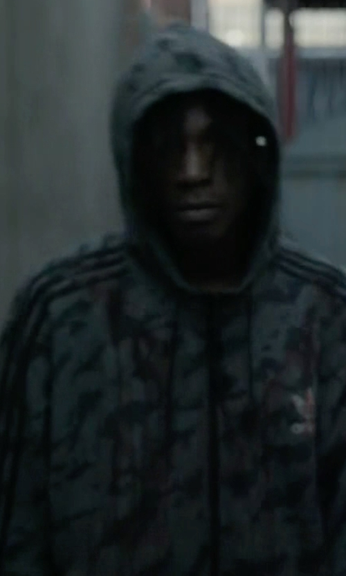 Joey Bada$$ with Adidas  Originals Training Full Zip All Over Print Hoodie in Mr. Robot