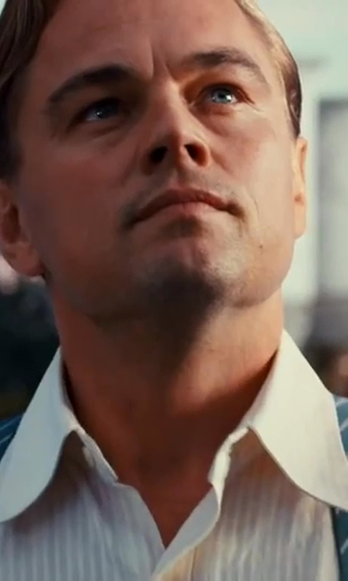 Leonardo DiCaprio with Brooks Brothers Diagonal Stripe Suspenders in The Great Gatsby