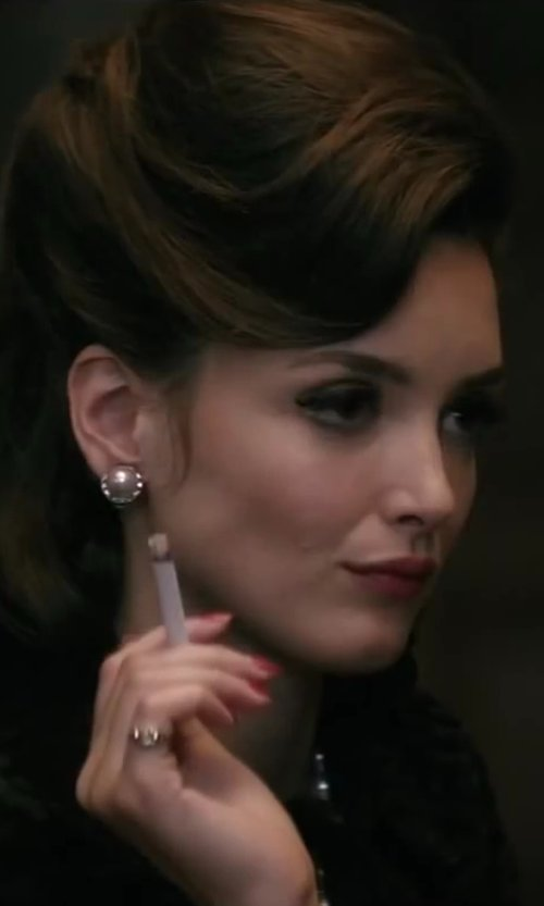 Charlotte Le Bon with Maison Martin Margiela Crystal Ring in Yves Saint Laurent