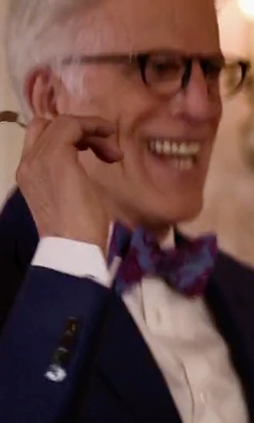 Ted Danson with Brooks Brothers Spaced Medallion Bow Tie in The Good Place