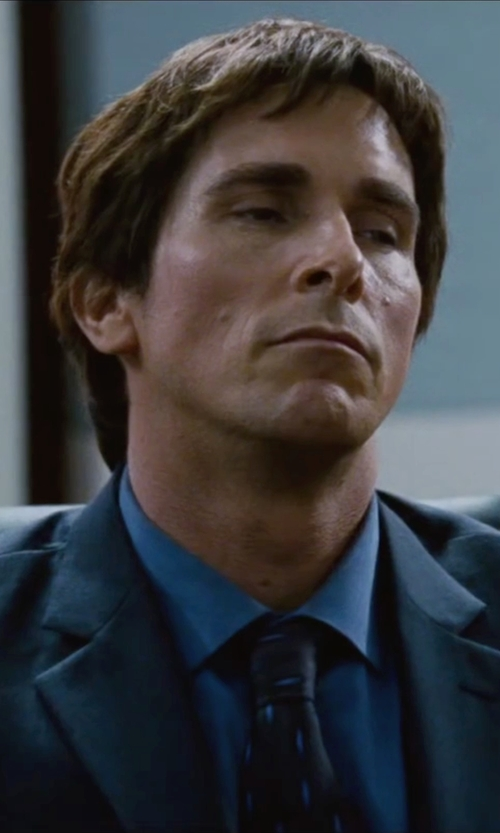 Christian Bale with Rag & Bone   Patterned Jacquard Tie in The Big Short