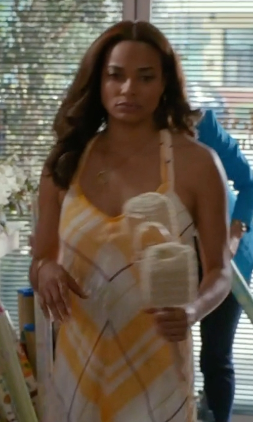 Rochelle Aytes with By Holding Horses Clementine Maxi Dress in Mistresses