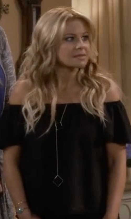 Candace Cameron Bure with Target Women's Square Toggle Long Necklace in Fuller House