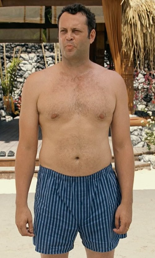 Vince Vaughn with Intimo Men's Satin Stripe Boxer-Big Short in Couple's Retreat