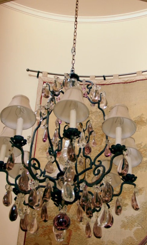 Kevin Costner with Joshua Marshal Home Collection Victorian Crystal Chandelier in Black or White
