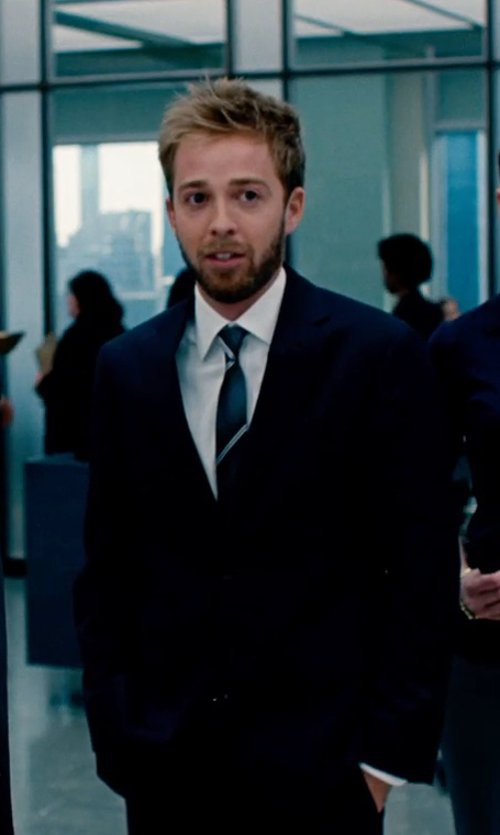 Alex Anfanger with T Tahari Men's Palmer 21 Suit in The Secret Life of Walter Mitty