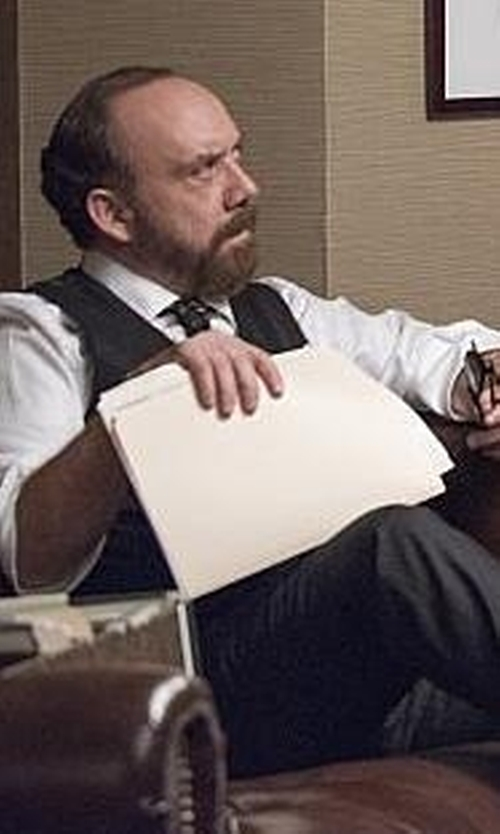 Paul Giamatti with Dolce & Gabbana Three Piece Dinner Suit in Billions