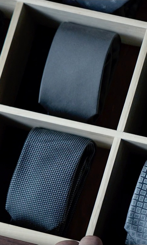 Jamie Dornan with Yves Saint Laurent Woven Silk Tie in Fifty Shades of Grey