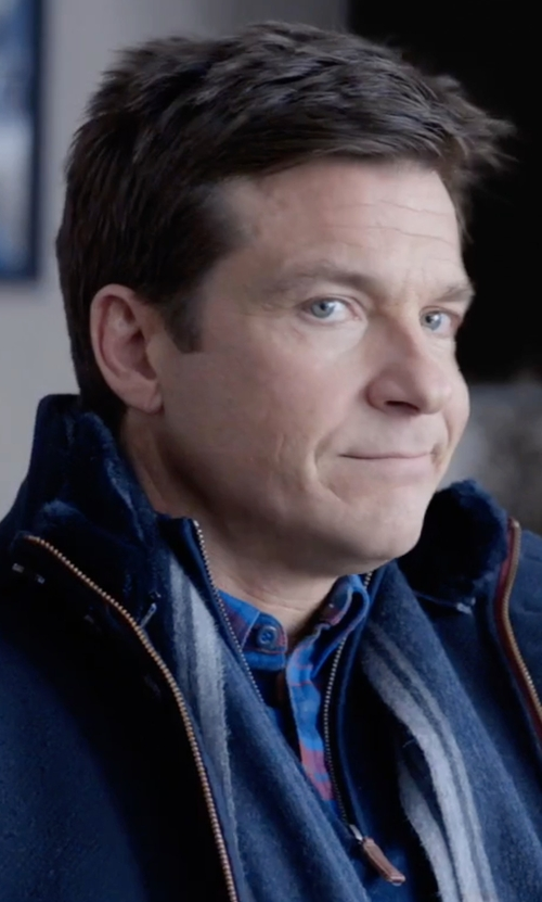 Jason Bateman with Tommy Hilfiger Softshell Classic Zip Jacket in Office Christmas Party