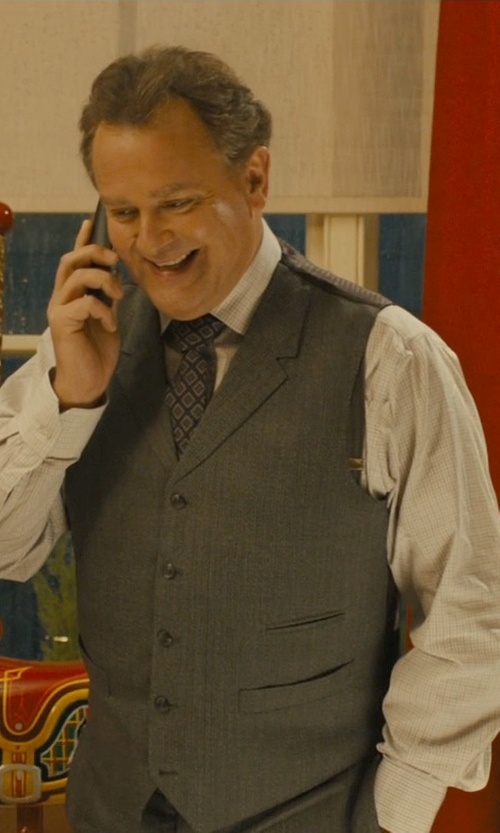 Hugh Bonneville with Ike Behar Men's Long Sleeve Dress Shirt in Paddington