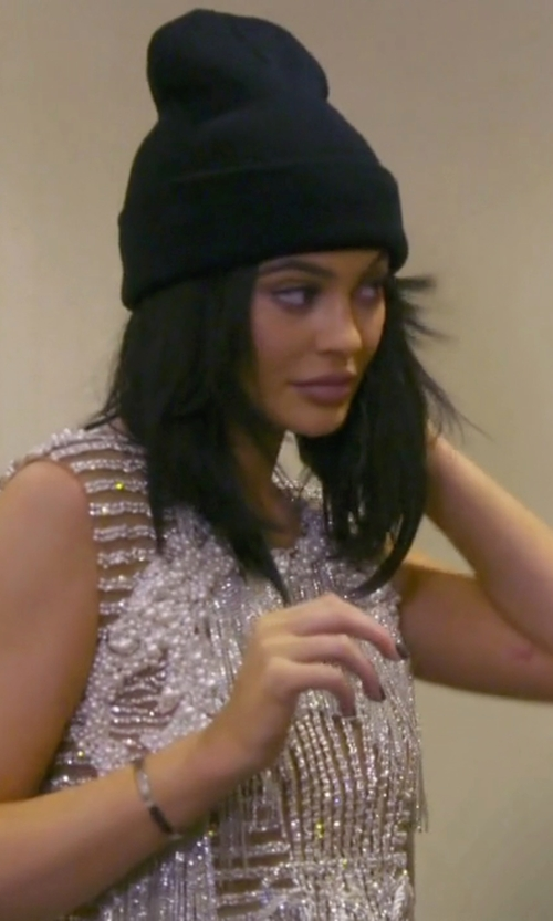 Kylie Jenner with Dsquared2 Beanie Hat in Keeping Up With The Kardashians