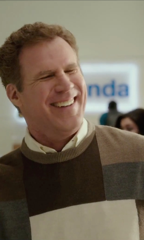 Will Ferrell with Dickie's Men's Benny Colorblock Crew Neck Sweater in Daddy's Home