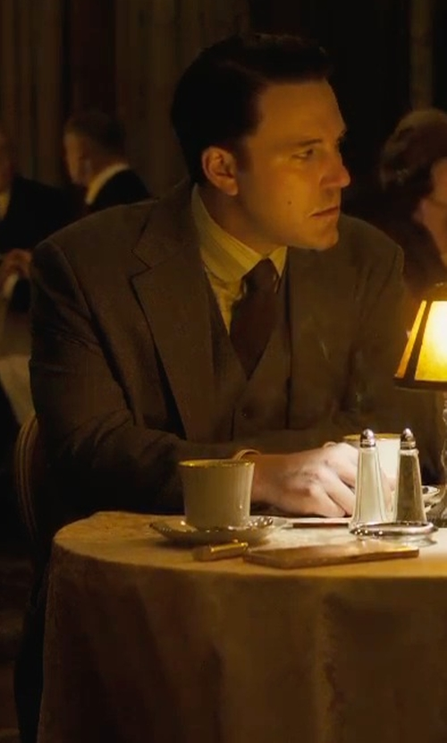Ben Affleck with Michael Michael Kors Classic-Fit Donegal Vested Suit in Live By Night