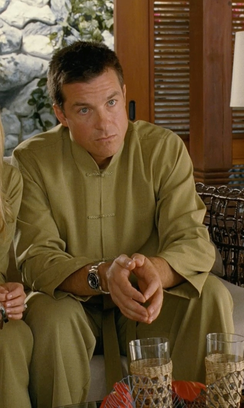 Jason Bateman with Ali Express Chinese Men's Embroider Kung Fu Suit in Couple's Retreat