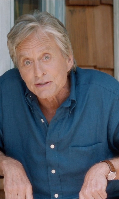 Michael Douglas with Tag Heuer Men's Carrera Stainless Brown Alligator Strap Watch in And So It Goes