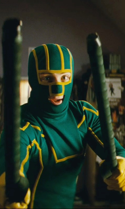 Aaron Taylor-Johnson with Kohaut LAPD Wood Nightstick in Kick-Ass