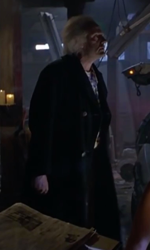 Christopher Lloyd with Kenneth Cole New York Double-Breasted Over Coat in Back To The Future Part II