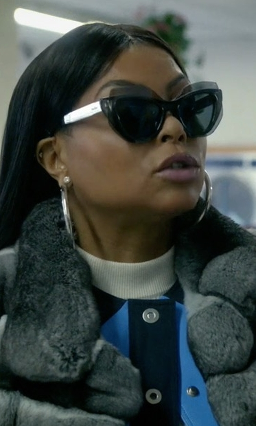 Taraji P. Henson with Thierry Lasry Epiphany Capped Cat-Eye Sunglasses in Empire