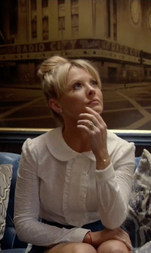 Kaitlin Doubleday with Comme des Garcons Peter Pan Collar Blouse in Empire
